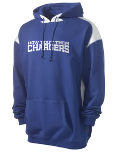 Saint Peter School Chargers Men's Pullover Hooded Sweatshirt with Contrast Color