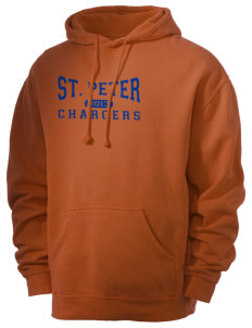 Saint Peter School Chargers Men's 80/20 Pigment Dyed Hooded Sweatshirt