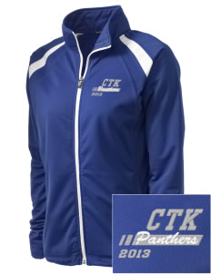 Christ The King School Panthers Embroidered Women's Tricot Track Jacket