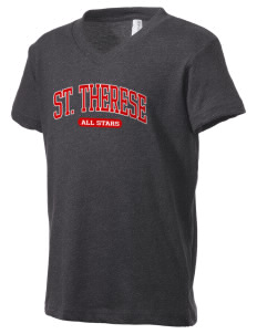 Saint Therese School All Stars Kid's V-Neck Jersey T-Shirt