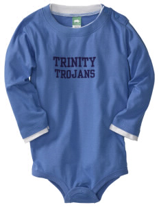 Trinity Catholic School Trojans  Baby Long Sleeve 1-Piece with Shoulder Snaps