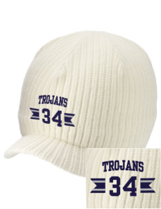 Trinity Catholic School Trojans Embroidered Knit Beanie with Visor