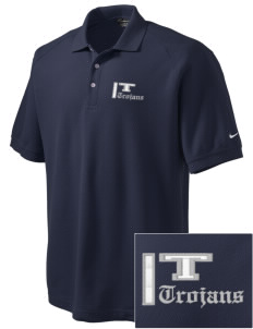 Trinity Catholic School Trojans Embroidered Nike Men's Pique Knit Golf Polo