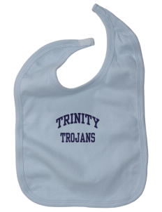 Trinity Catholic School Trojans Baby Interlock Bib