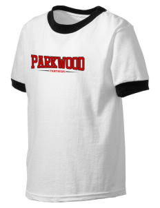 Parkwood Elementary School Panthers Kid's Ringer T-Shirt