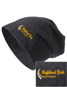 Highland Park Elementary School Mustangs Embroidered Slouch Beanie