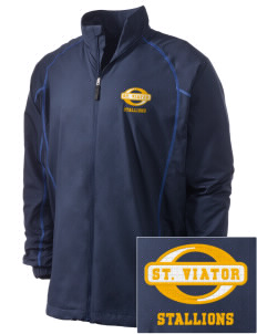 Saint Viator School Stallions Embroidered Men's Nike Golf Full Zip Wind Jacket
