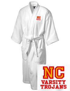 North Catholic High School Trojans Embroidered Terry Velour Robe
