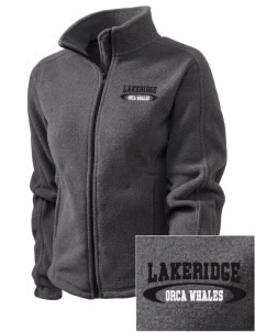 Lakeridge Elementary School Orca Whales Embroidered Women's Fleece Full-Zip Jacket