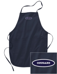 Bois Central Catholic Elementary Cougars Embroidered Full Length Apron