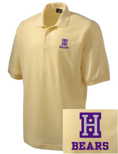 Hazlewood Elementary School Bears Embroidered Nike Men's Pique Knit Golf Polo