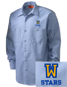 Winona Academy Stars Embroidered Men's Industrial Work Shirt - Regular