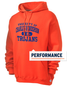 Charles Henderson Middle School Trojans Russell Men's Dri-Power Hooded Sweatshirt