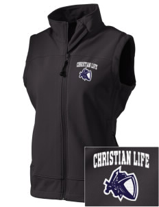 Christian Life School Knights  Embroidered Women's Glacier Soft Shell Vest
