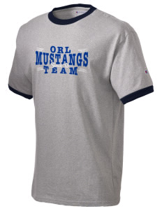Our Redeemer Lutheran School Mustangs Champion Men's Ringer T-Shirt