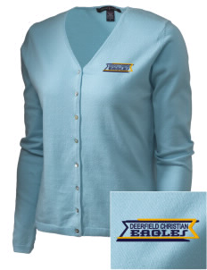 Deerfield Christian Academy Eagles Embroidered Women's Stretch Cardigan Sweater
