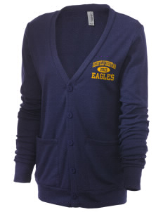 Deerfield Christian Academy Eagles Unisex 5.6 oz Triblend Cardigan