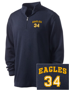 Victory Baptist Academy Eagles Embroidered Nike Men's Golf Heather Cover Up
