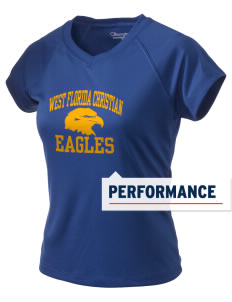 West Florida Christian School Eagles Champion Women's Wicking T-Shirt