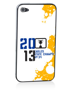 West Florida Christian School Eagles Apple iPhone 4/4S Skin