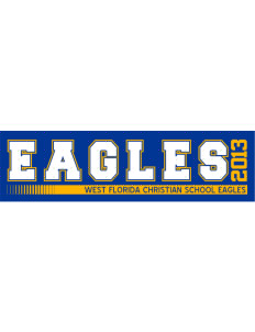 "West Florida Christian School Eagles Bumper Sticker 11"" x 3"""