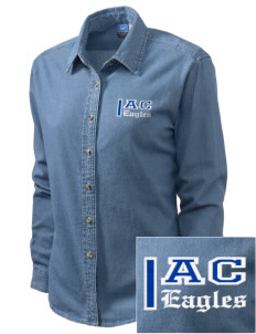 Altamonte Christian School Eagles Embroidered Women's Long-Sleeve Denim Shirt