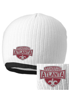 Atlanta Adventist Academy Aardvarks Embroidered Champion Striped Knit Beanie