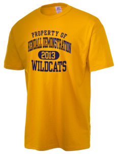Kendall Demonstration Elementary School Wildcats  Russell Men's NuBlend T-Shirt