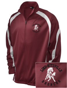 Lind-Ritzville Broncos Embroidered Holloway Men's Tricotex Warm Up Jacket