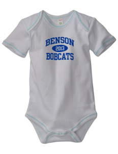 Benson High school Bobcats Baby Zig-Zag Creeper