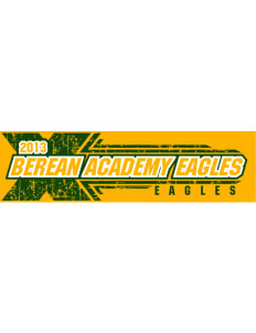 "Berean Academy Eagles Bumper Sticker 11"" x 3"""
