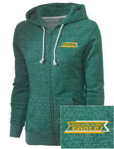 Berean Academy Eagles Embroidered Women's Marled Full-Zip Hooded Sweatshirt
