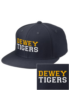 Dewey Elementary School Tigers Embroidered Diamond Series Fitted Cap