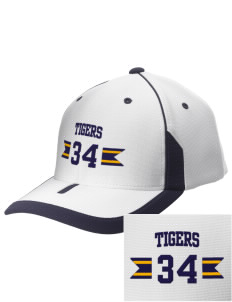 Dewey Elementary School Tigers Embroidered M2 Universal Fitted Contrast Cap