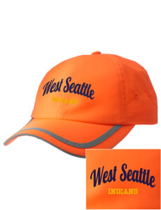 West Seattle High School Indians  Embroidered Safety Cap