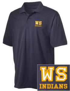 West Seattle High School Indians Embroidered Men's Micro Pique Polo
