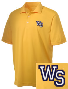 West Seattle High School Indians Embroidered Men's Double Mesh Polo