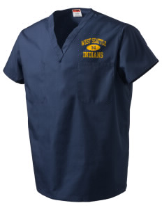West Seattle High School Indians V-Neck Scrub Top