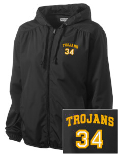 Bergan High School Trojans Embroidered Women's Hooded Essential Jacket