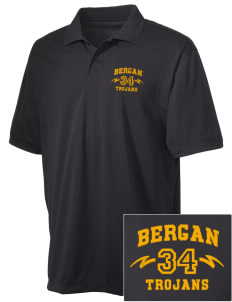 Bergan High School Trojans Embroidered Men's Micro Pique Polo