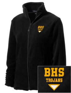 Bergan High School Trojans Embroidered Women's Wintercept Fleece Full-Zip Jacket
