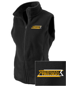 Bergan High School Trojans Embroidered Women's Fleece Vest