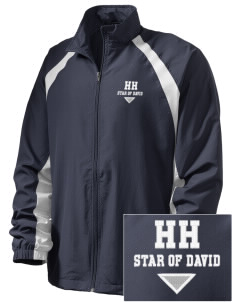Hillel Hebrew Academy Star Of David  Embroidered Men's Full Zip Warm Up Jacket
