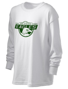 Saint John Lutheran School Eagles Kid's 6.1 oz Long Sleeve Ultra Cotton T-Shirt