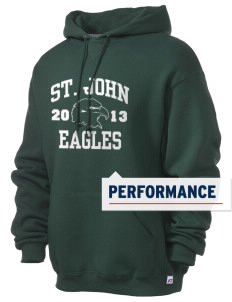 Saint John Lutheran School Eagles Russell Men's Dri-Power Hooded Sweatshirt