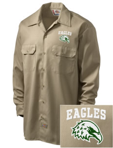 Saint John Lutheran School Eagles Embroidered Dickies Men's Long-Sleeve Workshirt