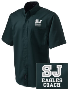 Saint John Lutheran School Eagles Embroidered Men's Easy Care Shirt