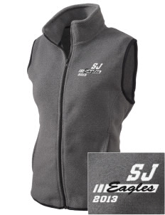 Saint John Lutheran School Eagles Embroidered Women's Fleece Vest