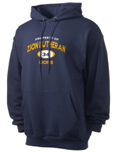 Zion Lutheran School Lions Men's 7.8 oz Lightweight Hooded Sweatshirt