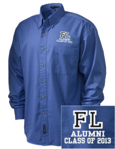 First Lutheran School Vikings Embroidered Tall Men's Twill Shirt